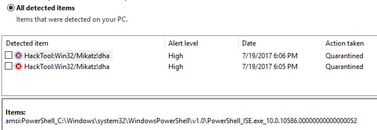 Current state of malicious Powershell script blocking - MRG Effitas