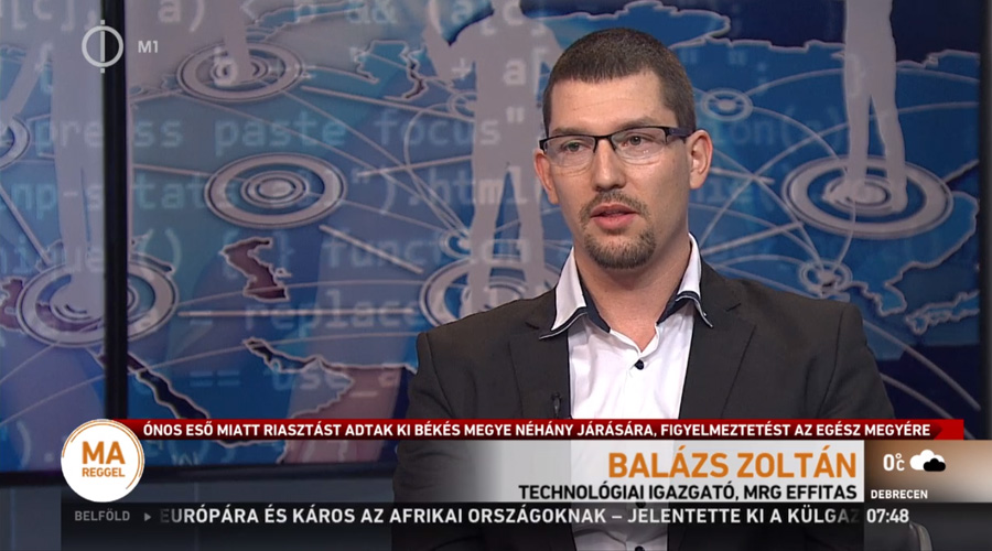Zoltan Balazs MTV1 appearance